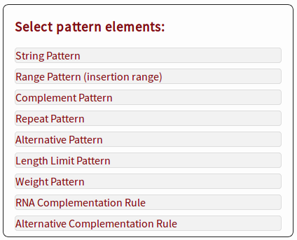 Pattern selector